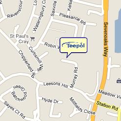 Map of Teepol's location